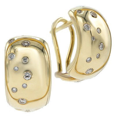 Золотые серьги с брилли...