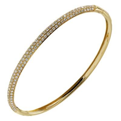 Золотой браслет с брилл...