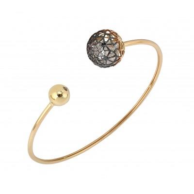 Roberto Bravo золотой браслет с цирконами
